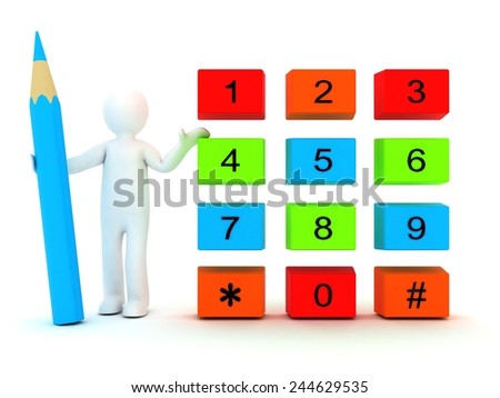 3d people - Call. - stock photo