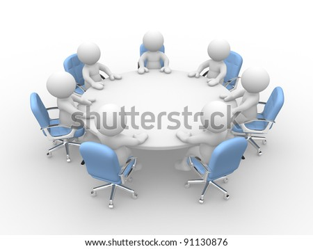 D People Human Character Person Round Stock Illustration - 14 person conference table