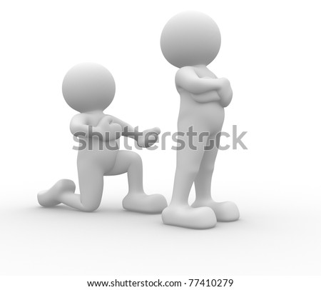 3d people icon love - This is a 3d render illustration - stock photo