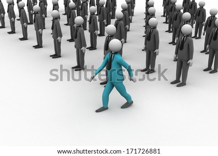 3d people in group