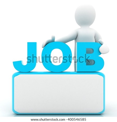 3d people. job - stock photo