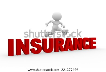 3d people - man, person and word Insurance - stock photo