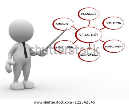 3d people - man, person pointer image of strategy. - stock photo