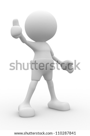 "3d people - man, person showing ""OK"" sign. - stock photo"