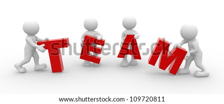 """3d people - men, person and word """"Team"""" - stock photo"""
