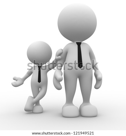 3d people - men, person together. Businessman - stock photo