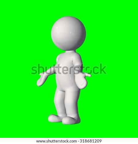 3D people - no idea 2 - green screen
