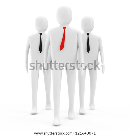 3d People on white background (Leadership Concept) - stock photo