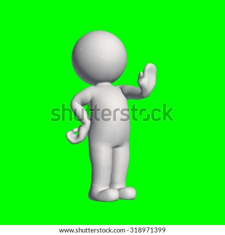 3D People - stop 3 - green screen