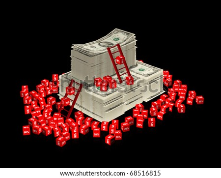 3d percents - stock photo
