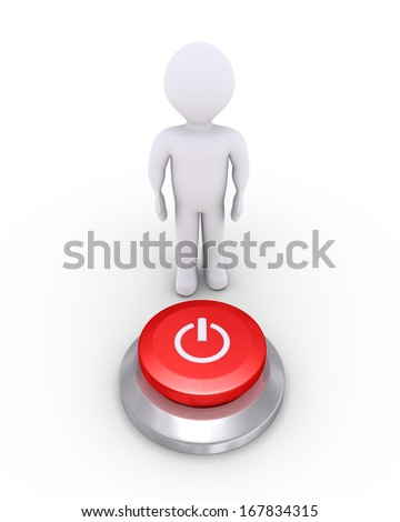 3d person is behind a power button