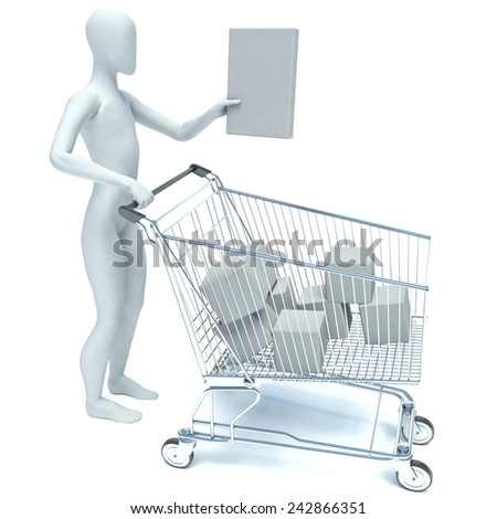 3d person makes a purchase - stock photo