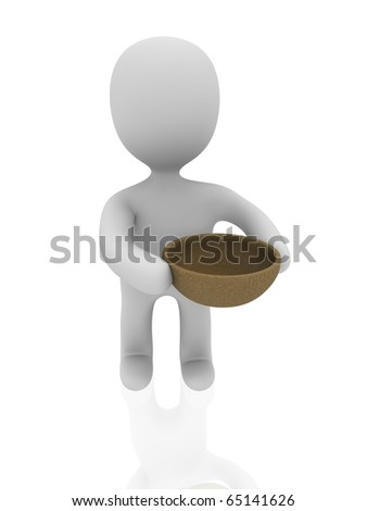 3d person with wooden plate