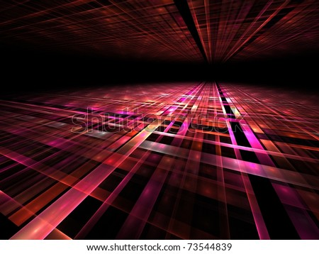 3d perspective grid background - stock photo