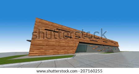 3d Perspective of building. - stock photo