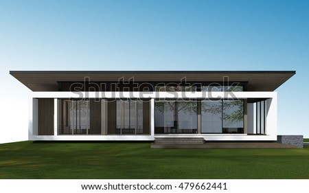3D perspective of house. 3D rendering.