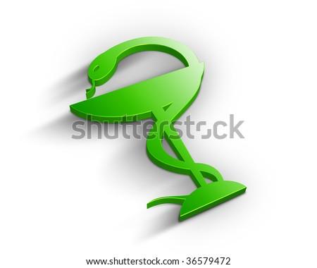 3D Pharmacy symbol - stock photo