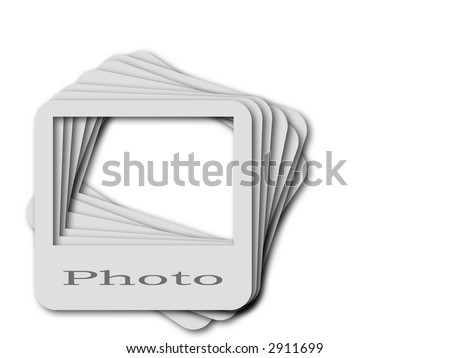 3d--photo slide - stock photo