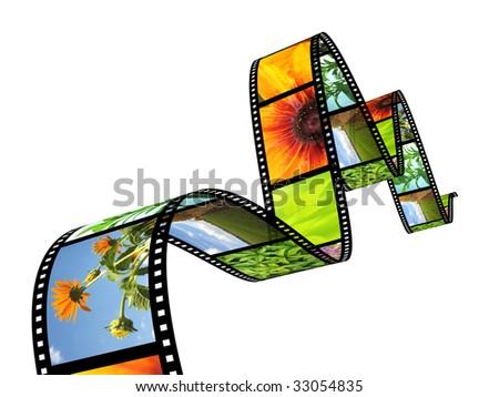 3d photographic film - stock photo