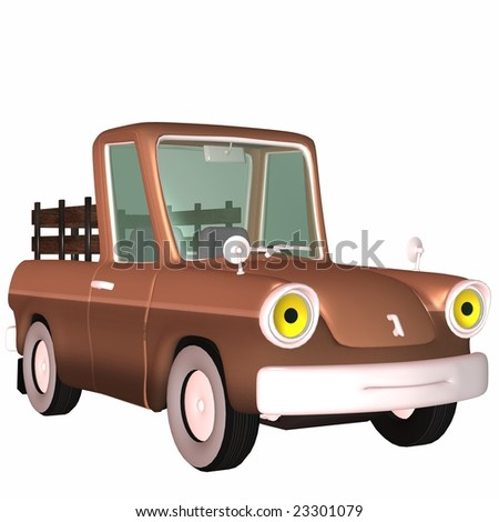 3D Pickup Truck - stock photo