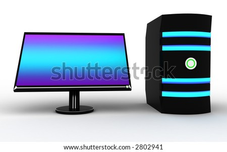 3d picture - stock photo