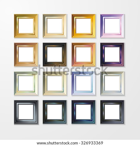 3D picture frame design for A4 image or text - stock photo