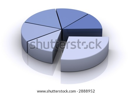 3d Pie Chart - stock photo
