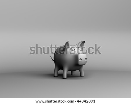 3d pig coin box - stock photo