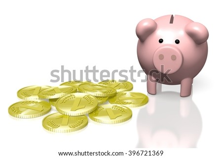 3D piggy-bank concept - great for topics like savings, banking, finance etc.