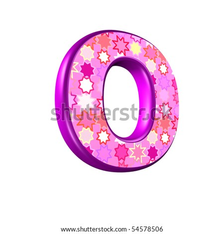 3d pink letter isolated on a white background - stock photo