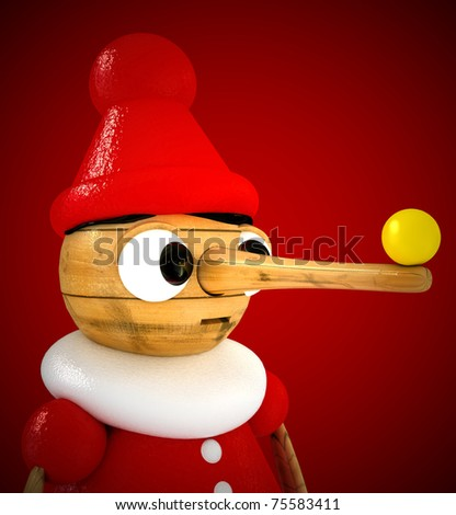 3D Pinocchio - stock photo