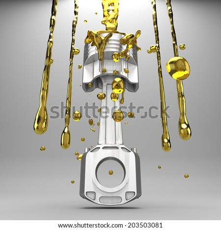3d piston cars in the background. - stock photo