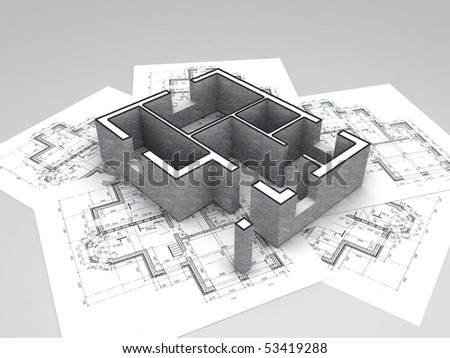 architecture blueprints 3d. Beautiful Architecture 3D Plan On Top Of Architecture Blueprints And Architecture Blueprints 3d I