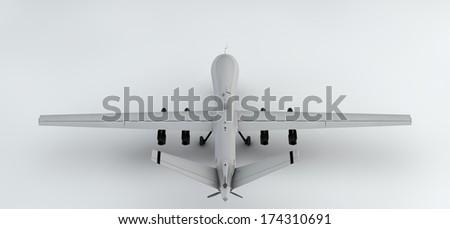 3D plane - stock photo