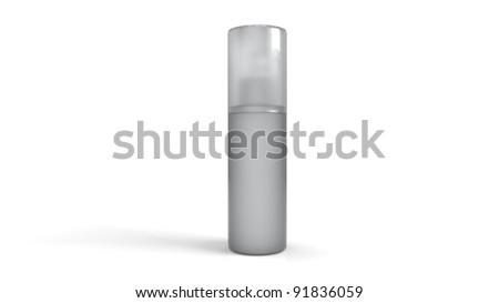 3D Plastic Container - stock photo