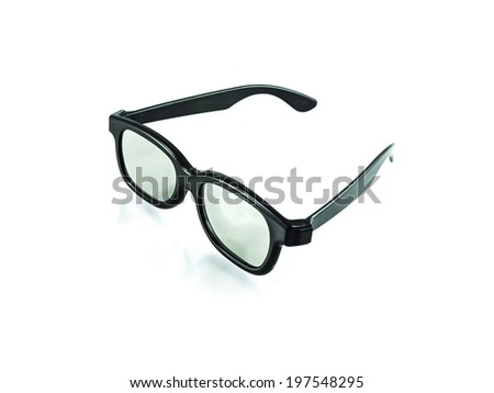 3d plastic glasses isolated on white - stock photo