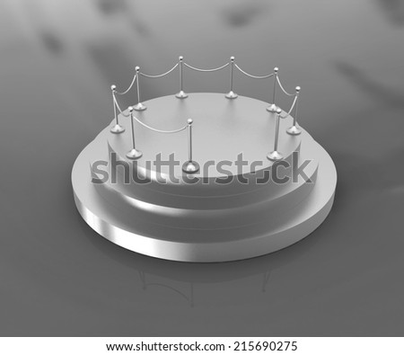 3D podium on background  - stock photo