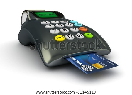 3D POS-terminal with credit card isolated