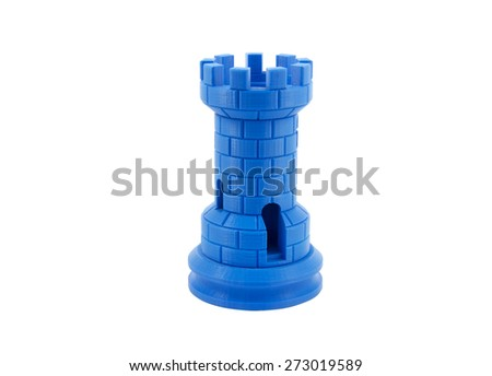 3D Printed Model Of A Castle - stock photo