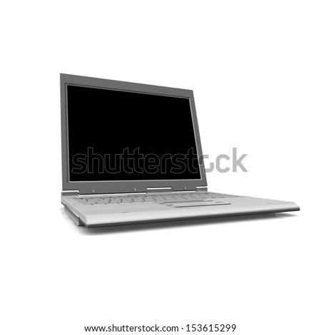3D professional Laptop isolated on white background with empty space. - stock photo