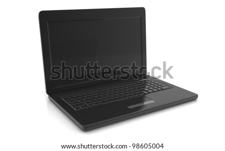 3D professional Laptop on white background