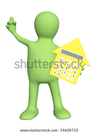 3d puppet with calculator