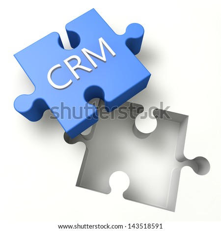 3d Puzzle concept: CRM - Customer Relationship Management - stock photo