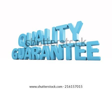 3d Quality guarantee - stock photo