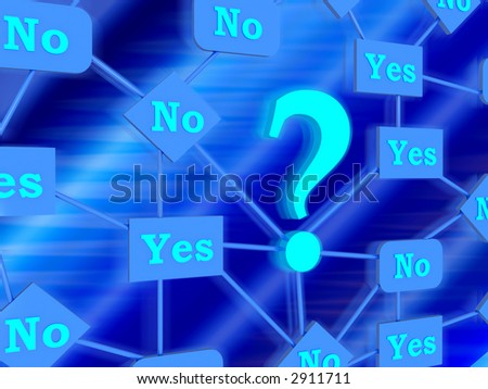 3d--question - stock photo