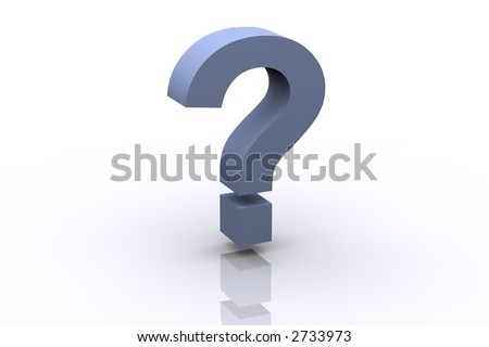3d Question Mark (More 3d icons like this available on my gallery) - stock photo
