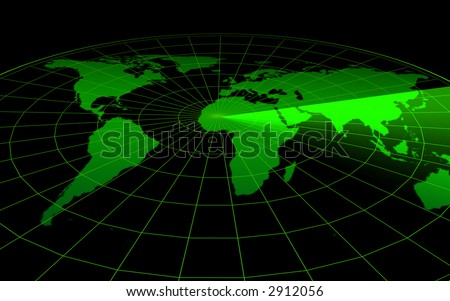3d--radar - stock photo