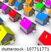 3d real estate concept - stock vector