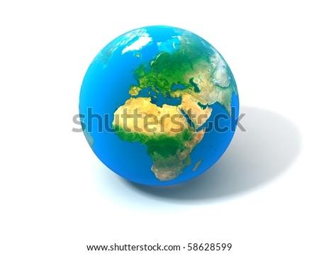 3d realistic Globe - stock photo