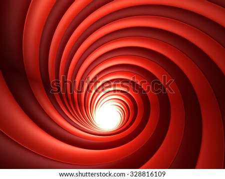 3d Red Abstract Vortex. 3d rendering - stock photo